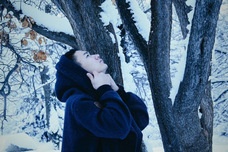 Snow ❄ One Person Winter Natural Photo One Moment Love♥