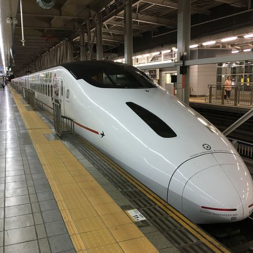Express KYUSHU Japan Train Fukuoka City  Transportation Railroad Station Railroad Station Platform Travel Motion Railroad Track Modern