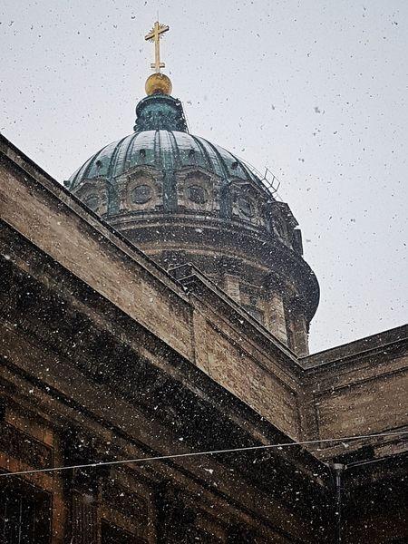 Апрель. Казанский казанскийсобор апрель2017 снег❄ Kazansky Cathedral Winter Saint-Petersburg April 2017 Snow ❄