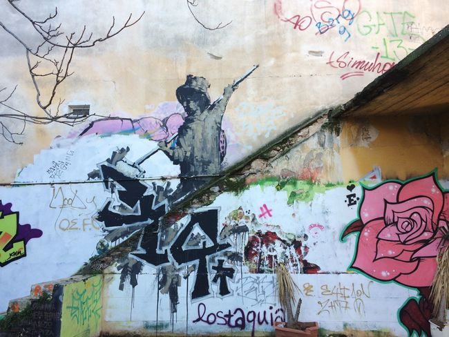 Athens street art Graffiti Text Built Structure Architecture Day No People Outdoors