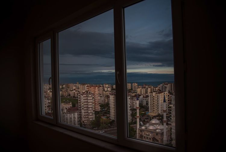Behind the window City View  Scenics Antalya Sky Window City Cloud - Sky Cityscape Nature Scenics - Nature Outdoors Apartment