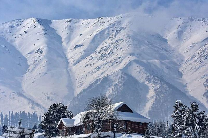 Snow Winter Cold Temperature Blue Outdoors Sky Tree Nature No People Cloud - Sky Beauty In Nature Day Landscape Mountain