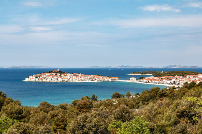 Looking onto the peninsula of Primosten, Croatia Croatia Primošten Adriatic Adriatic Coast Adriatic Sea Architecture Building Exterior Built Structure City Cityscape Coastal Day Horizon Over Water Nature No People Outdoors Peninsula Scenics Sea Sky Town Tranquility Water
