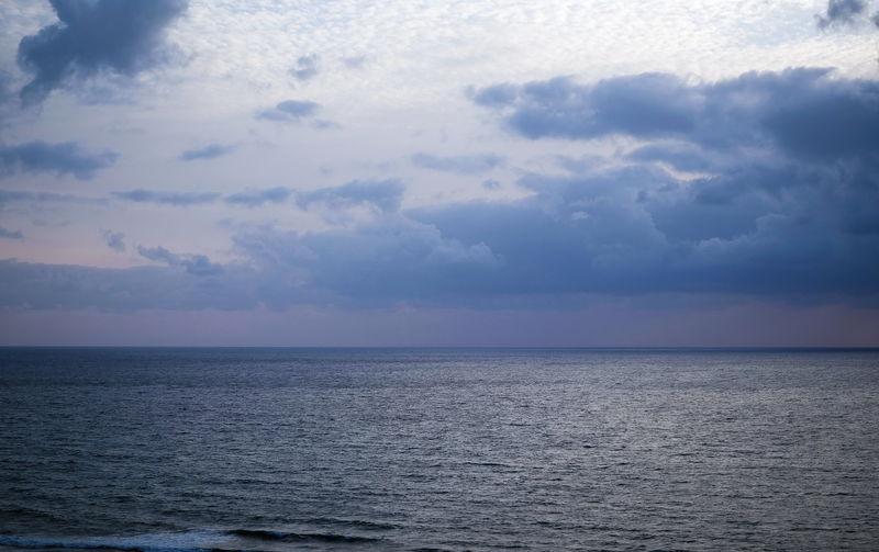 http://www.modelmayhem.com/863720 Beauty In Nature Blue Calm Cloud - Sky Horizon Over Water Ocean Sea Seascape Sky Water Waterfront