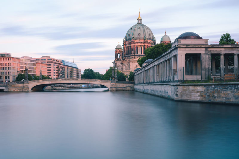 Berlin Cathedral at sunset Berlin Berlin Cathedral Berlin Mitte Berliner Dom Copy Space Spree River Berlin Arch Bridge Architecture Bridge Bridge - Man Made Structure Building Building Exterior Built Structure City Connection Dome Government Museum Island Berlin Nature No People Outdoors Place Of Worship River Sky Summer In Berlin Sunset In Berlin Tourism Travel Travel Destination Travel Destinations Water Waterfront