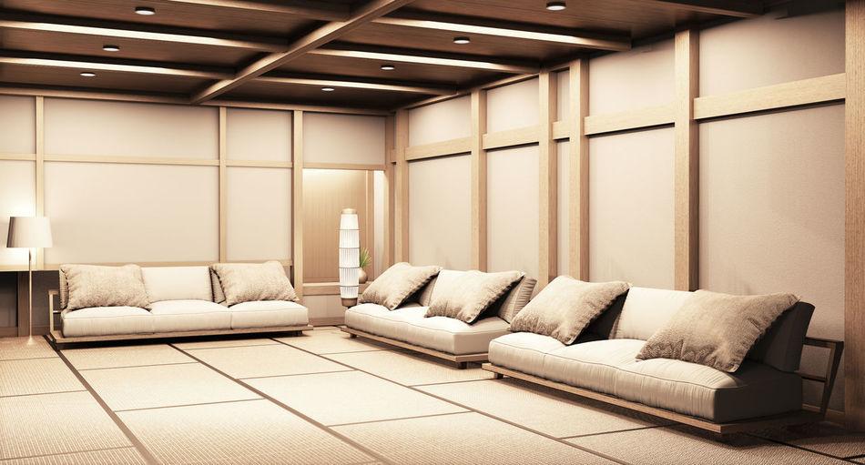 Interior of sofa at home