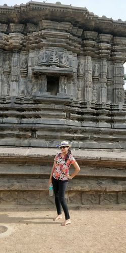the ever posing wife.. love both Full Length Standing Women Architecture Sky Camera Visiting Tripod Civilization