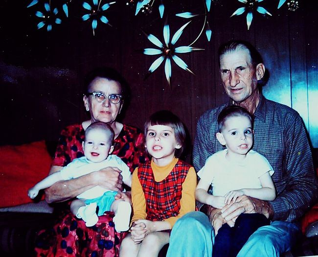 My Grandma And Grandpa ♡  In Chicago Family Matters My Big Sis My Little Brother ❤and That's Me Hanging Out.....My Mother's parents.William and Margret Shmolliger,sis Cheri,little bro.Tommy who i've been teasing with old pictures,and Billy that's me.I'm named after both of my Grandpa's