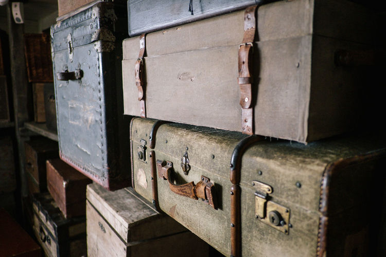 Suitcase Bag Bags Old Metal No People Close-up Electricity  Indoors  Day Selective Focus Container Retro Styled Wood - Material Wall - Building Feature Fuel And Power Generation Control Security Safety Focus On Foreground Box Power Supply Baggage