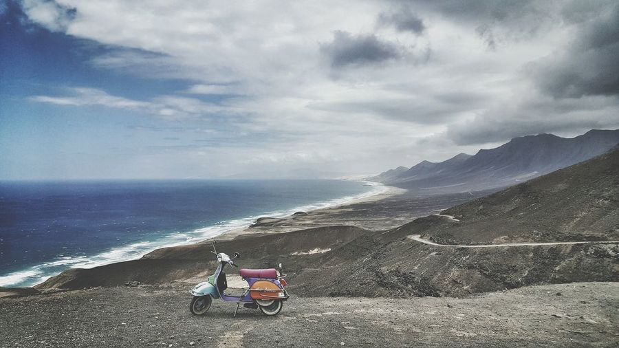 Serene Outdoors Outdoors Beachlife Landscape_photography Mobile_photographer Beach Coast Hello World Check This Out Beachlovers Volcano Landscape Fuerteventura Vespaspotting Vespa Vespastyle Vespavintage Moped Cool Relaxing EyeEm Best Shots Original Experiences Feel The Journey