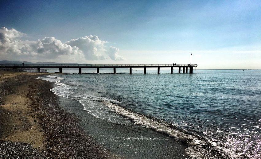 Sky Sea Water Cloud - Sky Scenics - Nature Horizon Horizon Over Water Beach Idyllic Architecture Tranquility