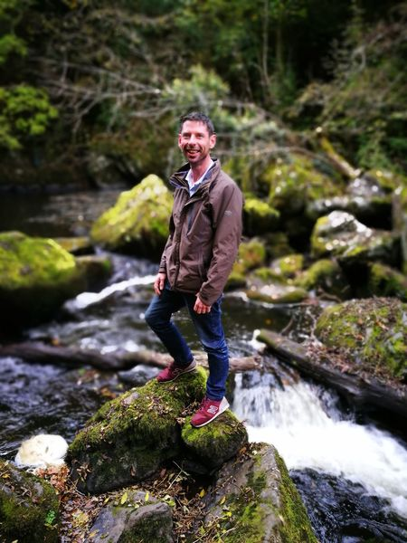 What Who Where bro inlaw to be happy out on his stone Rock - Object Water Beauty In Nature Forest One Person River Adult Outdoors Stream - Flowing Water People Freshness Portrait Friend Green Color Autumn Happy Happy People Full Length Nature Water_collection Stream Water Splash Reflctions OneMan