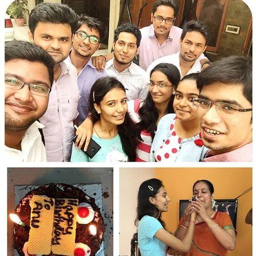Anushreebday Herhome Celebration Articleshipdiaries Cake Anushree Majja Icecream