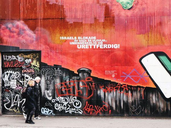 Red. Wall. Graffiti Street Art Multi Colored Oslo City Streetphoto_color Streetphotography Wall Textures