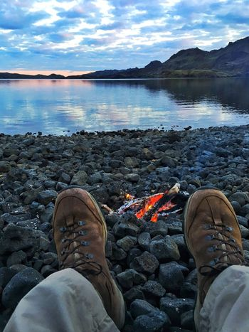 Campfire Shoes Stones Lake Iceland Iceland216 Iceland_collection