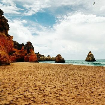 uma 'prainha' só para mim [série algarve, prainha, portimão] Praia Prainha Portimao Algarve Portugal Mar Verão Férias Gaivota Beach Sea Summer Vacation Seagull