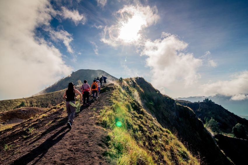 Hiker on Batur Volcano, Indonesia Bali Batur Freedom Hiking Nature Tourist Adventure Backpack Beauty In Nature Cloud - Sky Day Exploration Full Length Group Of People Hiker Hiking Landsacpe Landscape Leisure Activity Lifestyles Men Mountain Mountain Range Nature Outdoors Real People Rear View Scenics Sky Togetherness Tourism Vacations Volcano Walking Women