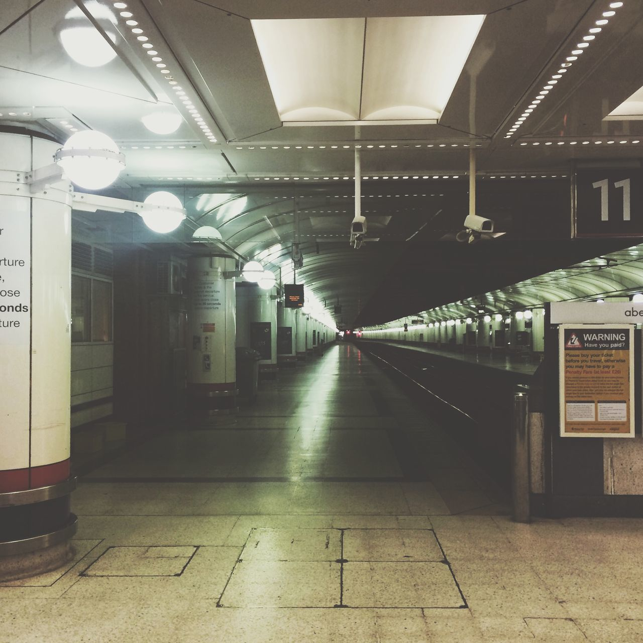 Empty Underground Subway Station