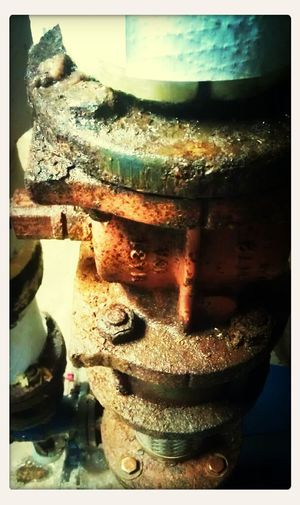 Old and rusted pipes.