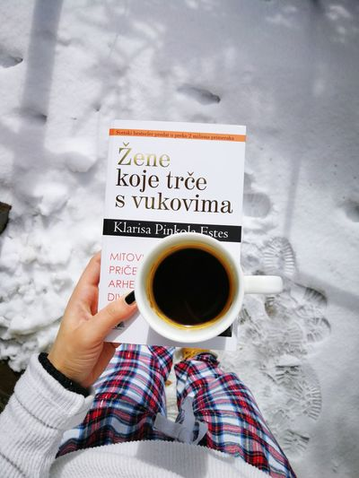 Coffee Cup Coffee - Drink Human Hand Drink Holding Morningvibes Mountain View Winter Enjoyment Vacations Beauty In Nature Kopaonik, Serbia Huaweip10plus Happiness Woman Who Runs With The Wolfs