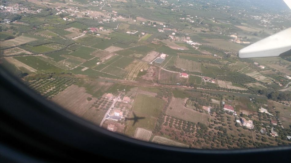 Aerial View Air Vehicle Aircraft Wing Airplane Airplane Wing Beauty In Nature Day Flying Journey Landscape Mid-air Nature No People Outdoors Patchwork Landscape Transportation Travel Window Go Higher