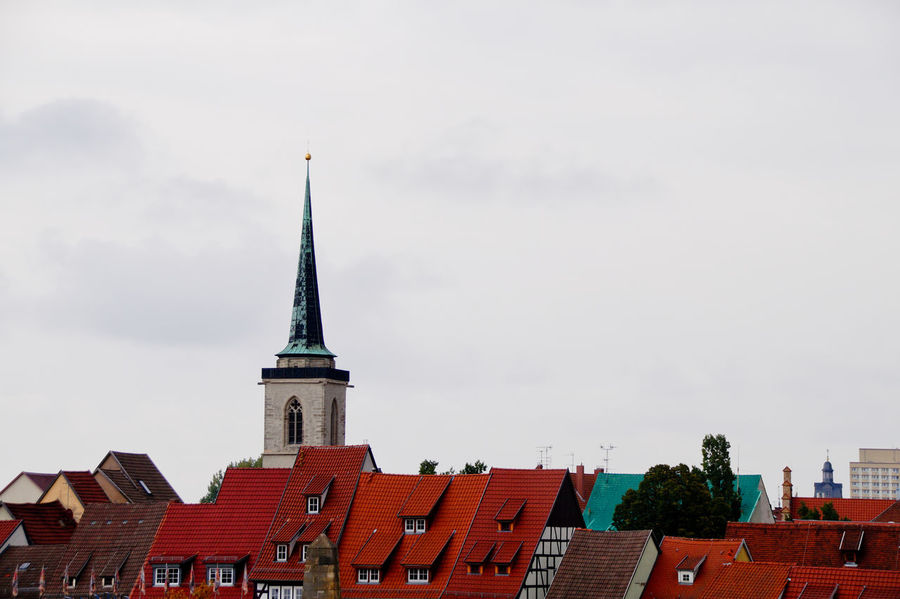 Cityscape Dom Jahrmarkt Postcode Postcards Rethink Things Second Acts Architecture Building Exterior Built Structure City Cloud - Sky Day Dome History Low Angle View No People Outdoors Place Of Worship Red Religion Roof Sky Tower