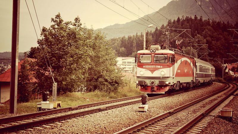 Train Train Railway Bucegi Natural Park Busteni Nostalgia Romania Taking Photos Made In Romania