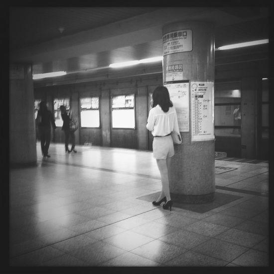 Subway Candid Blackandwhite Streetphoto_bw
