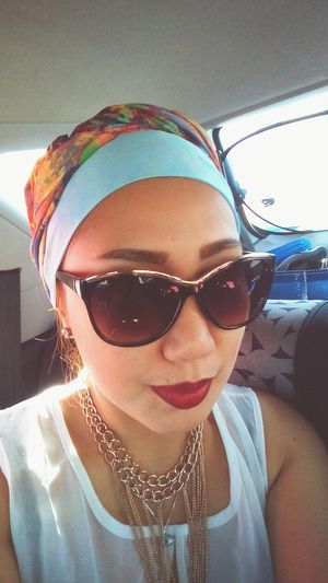 On the way Lookoftheday Sunday Mangosunglasses Bandana