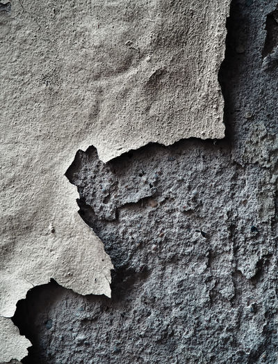 Full Frame Shot Of Peeling Damaged Wall