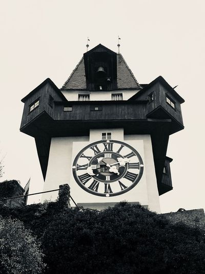 Time Clock Architecture Built Structure Roman Numeral Old-fashioned History Graz Schlossberg Uhrturm EyeEmNewHere