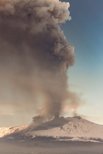 Catania Smoke - Physical Structure Erupting Mountain Volcano Environment Power In Nature Power Sky Beauty In Nature Geology Land No People Landscape Non-urban Scene Sign Nature Active Volcano Warning Sign Emitting Physical Geography Outdoors Pollution Volcanic Crater Air Pollution Mountain Peak