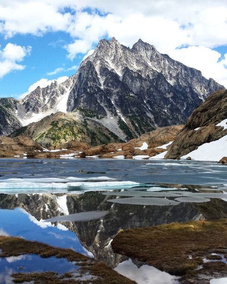 Beauty In Nature Frozen Frozen Nature Geology Horizontal Symmetry Ice Landscape Majestic Mother Nature Mothernature Mount Stuart Mountain Nature Physical Geography Quiet Quiet Moments Reflection Reflections Scenics Silence Still Life Symmetry Tranquil Scene Tranquility Winter