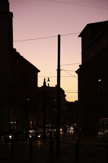 City street at dusk