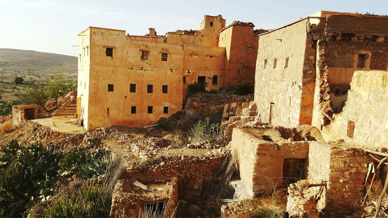 Morocco Architecture Traditional Stone House Warm Colors Landscape Sousse Amazigh Tafraout Idaougnidif Beautiful Nature