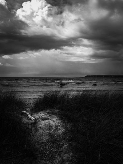 Gotland - a cloudy day with the Baltic Sea in the background Mobilephotography Bw_nature MADE IN SWEDEN