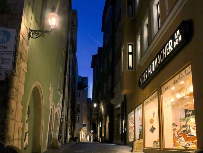 Building Exterior Architecture Night Built Structure Text Illuminated Lighting Equipment