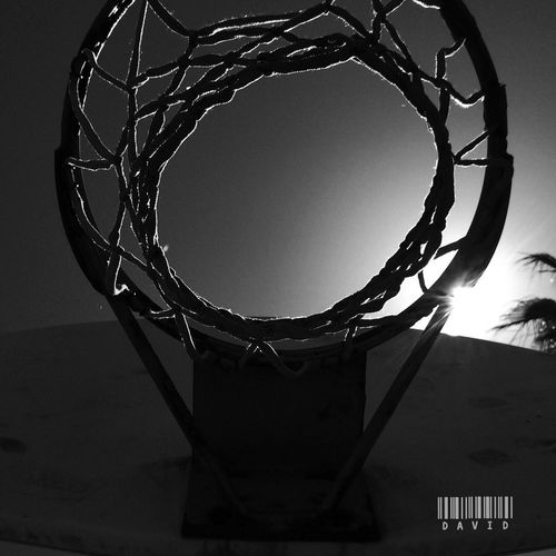 Perspective Silhouette Basketball Monochrome