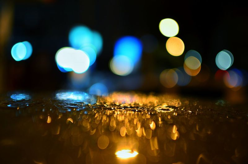 Abstract circular bokeh background of light. Effect Rain RainDrop Wallpaper Background Malaysia Bokehlicious Color Bokeh Photography Night Design Lamp Bokeh Town City Defocused Illuminated Water Nightlife Close-up Wet Drop Water Drop