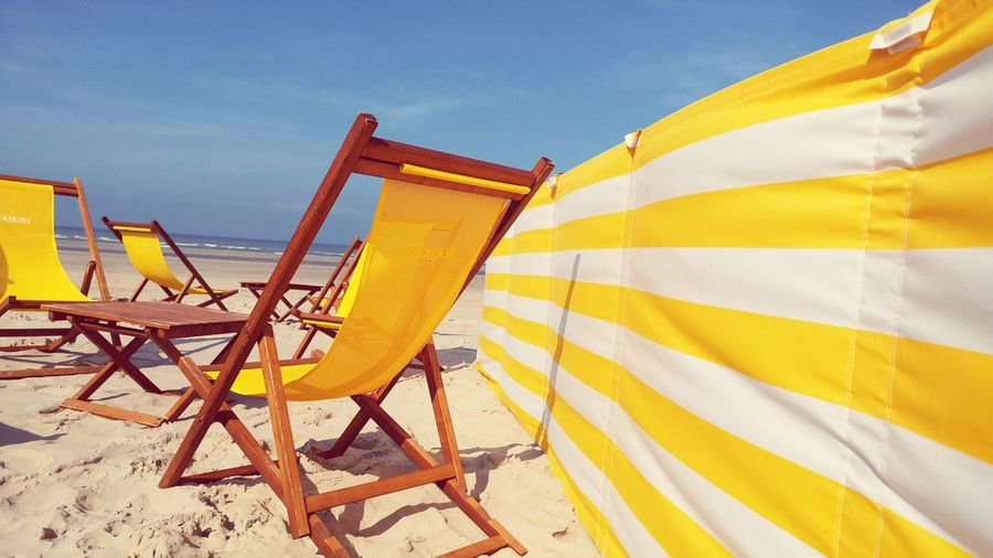 Yellow No People Sand Sea Beach Landscape Horizon Over Water Travel Destinations Outdoors Day Sky Paint The Town Yellow