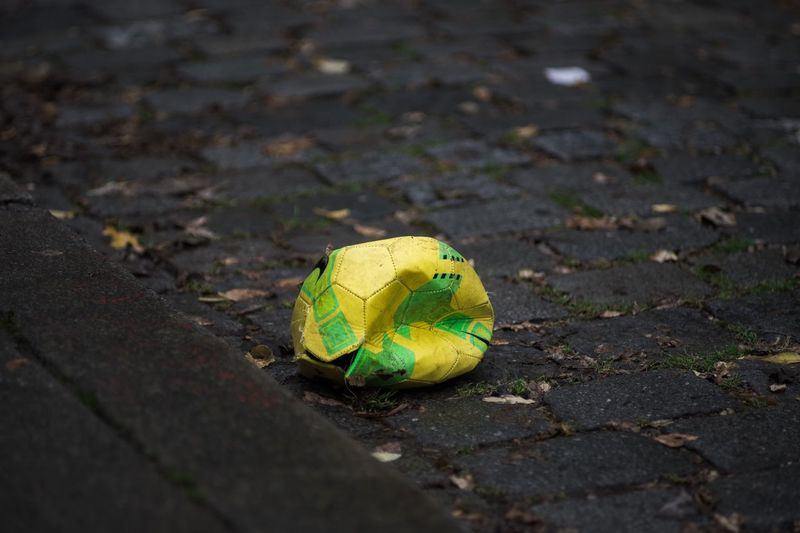 Football Broken Bursted