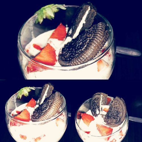 Q Q Is For Quench Oreo Ice Cream Strawberry Tasty😋