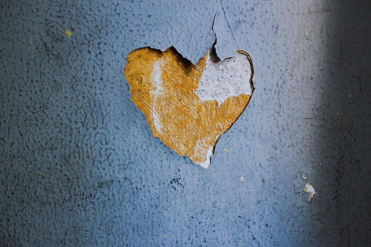 Peeling Off Wall In Heart Shape