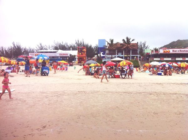 Hanging Out - mucho People at Beach in Brasil RePicture Travel