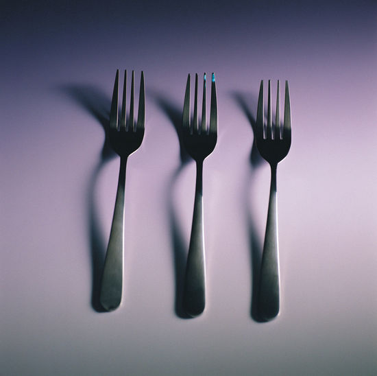 Cutlery still life concept creative design Creative Photography Cross Diet Fork Hungry Tableware Thinking WILLPOWER Challenge Close-up Concept Creative Cutlery Day Design Eat Fork Idea Indoors  Logic No People Plate Stainless Steel  Studio Shot White Background