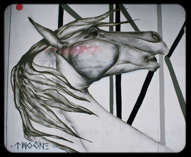 Horse Mural by artist Two One