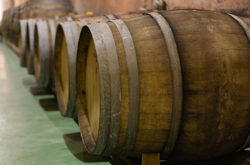 old wooden wine
