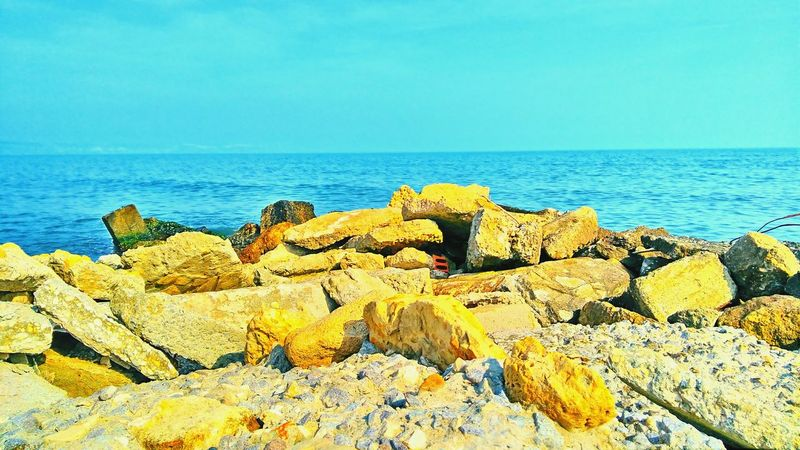 Sea Getting Inspired Water Rocks And Water Rocks Sunny Sun Beach Beautiful Nature Blue Water Blue Sky Summerisnear Swimming Here I Come EyeEmNewHere EyeEmPaid Bulgaria❤️ Bulgaria Good Mood No People Outdoors Beauty In Nature Trip With Friends Day Togetherness Goodvibes Freshness Break The Mold
