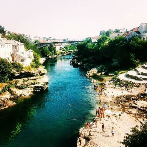 River Neretva Beautiful Mostar City Memories Holiday Summer2015 Instapicture Instasummer