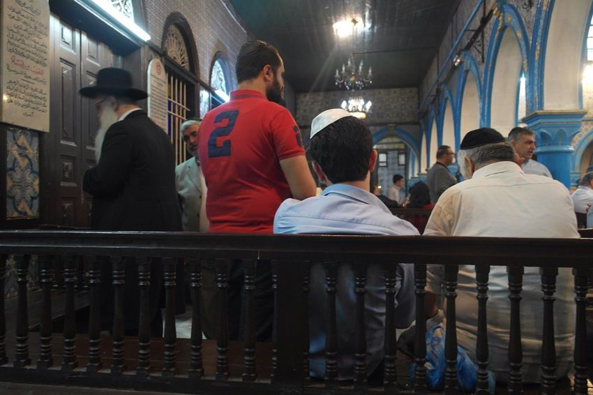 The Photojournalist - 2017 EyeEm Awards Prayers of pilgrims at the Ghriba synagogue in Djerba Real People Men Indoors  Spirituality Large Group Of People Synagogue Jewish Praying Architecture Day People Adult Religion